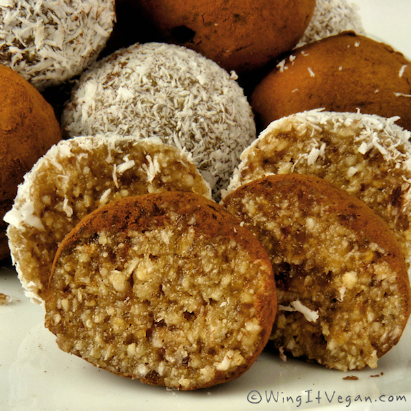 Coconut-Kissed Almond Date Truffles