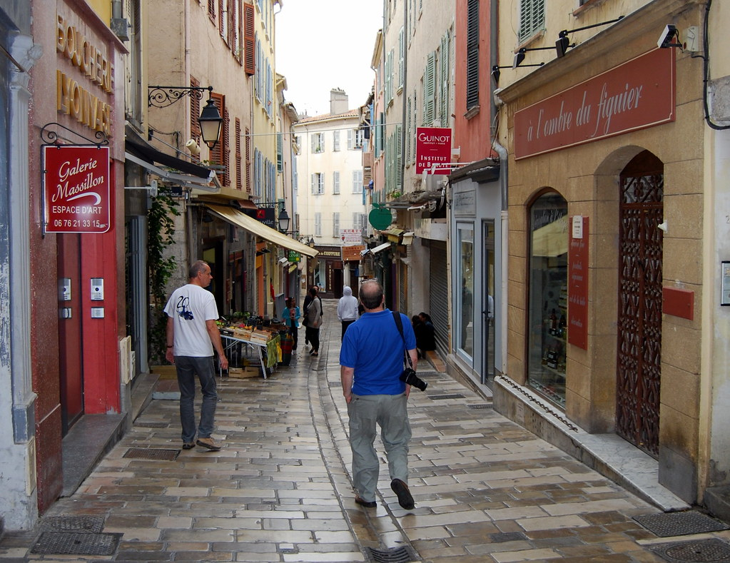 Narrow street, Hyeres old town.