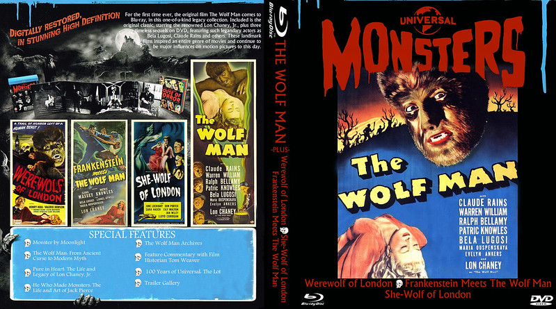 The Wolf Man blu set