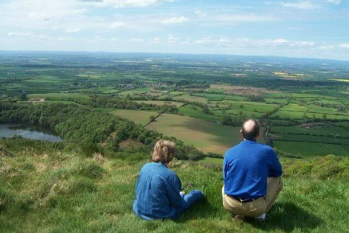 Sandy & Paul at Sutton Bank - the best view in the world