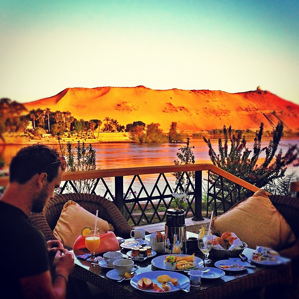 5.30 a.m. in #Aswan, enjoying #breakfast and last #sunrise before leaving for Italy. At @movenpickhotels -  #instagramhub #igoftheday #primeshots #instamood #photooftheday  #bestoftheday #webstagram #statigram #picoftheday #igdaily #instago #awesome_shot