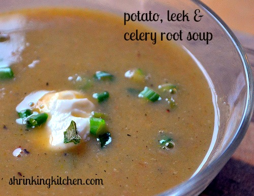 potato leek & celery root soup