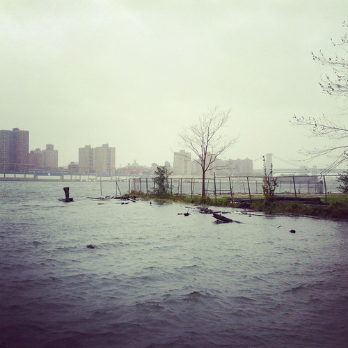 Hurricane Sandy - high tide