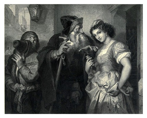 005-El mercader de Venecia-Shakespeare scenes and characters…1876