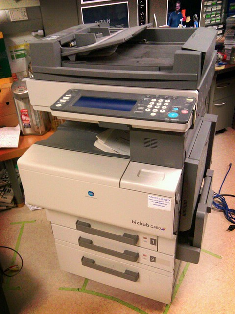 color copier acquired for Critical Making project