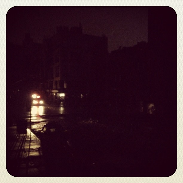 The power is out in the #eastvillage NYC! All of St Marks is dark + everyone is screaming