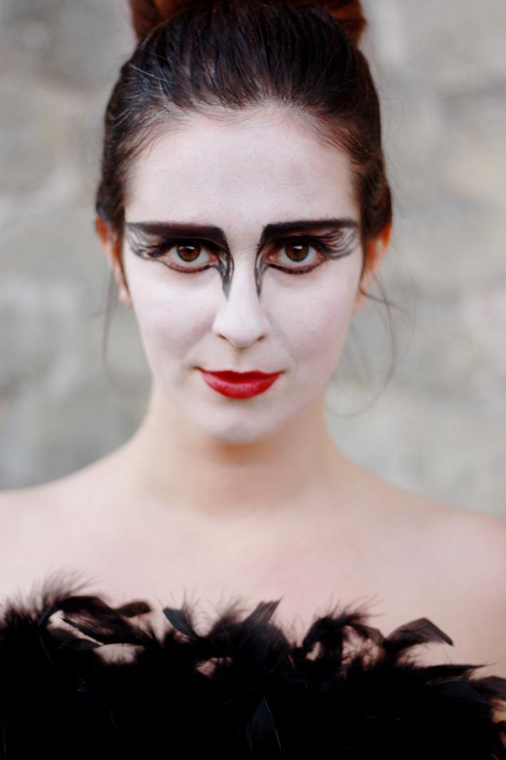 Black swan dress up halloween