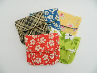 pleated pouches (small)