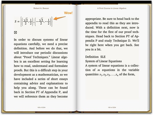 MathML in iBooks3 with iOS6