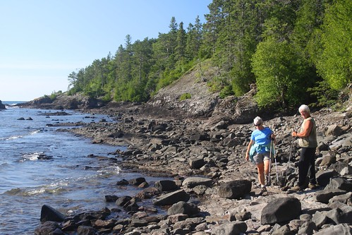 Walking along the coast of Lake Superior