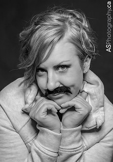Day 3 Cute model shows her support for creating awareness with Movember.