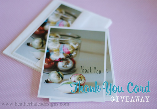 Thank You Notecards- GIVEAWAY!