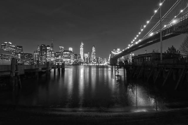 The NYC Skyline from Brooklyn Bridge Park
