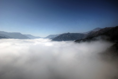 above nepal sky mountains car fog clouds lens landscape temple asia view ride angle sony wide sigma cable super clear valley alpha himalaya 1020mm range 77 slt lenses distric a77 manakamana gorkha himalays