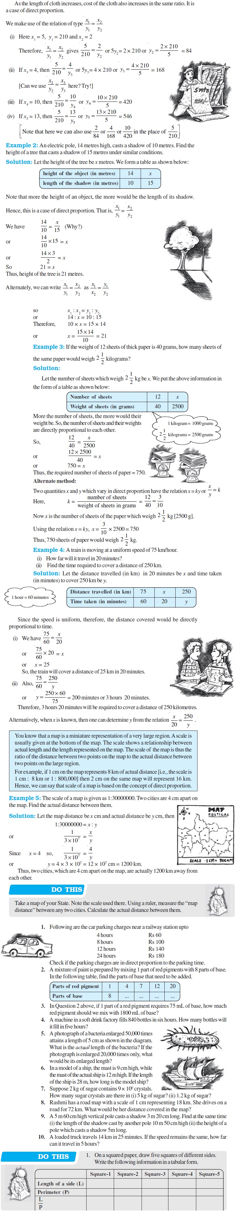 NCERT Class VIII Maths Chapter 13 Direct and Inverse Proportions