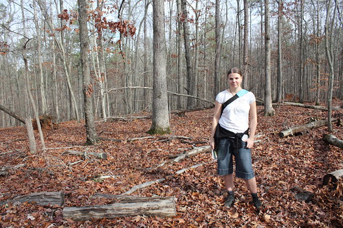 Jenni near the rifle pits