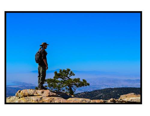 california city blue sky man tree losangeles nationalpark cityscape view horizon profile backpack hiker idyllwild backpacker daypack sanbernardinonationalforest moutaineer sanbernadinonationalforest