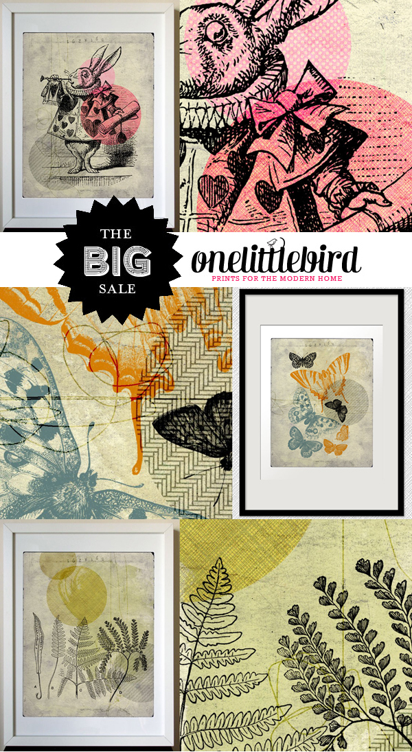 The Big Sale at One Little Bird Studio, all digital collages are on clearance with 30% off!