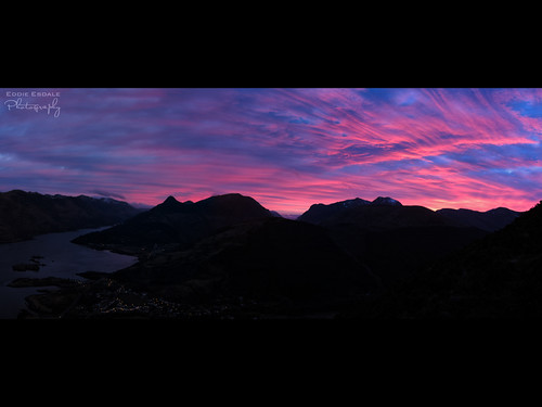 Sunrise over Ballachulish by xpfloyd
