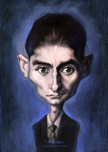 digital sketch study of Franz Kafka - final
