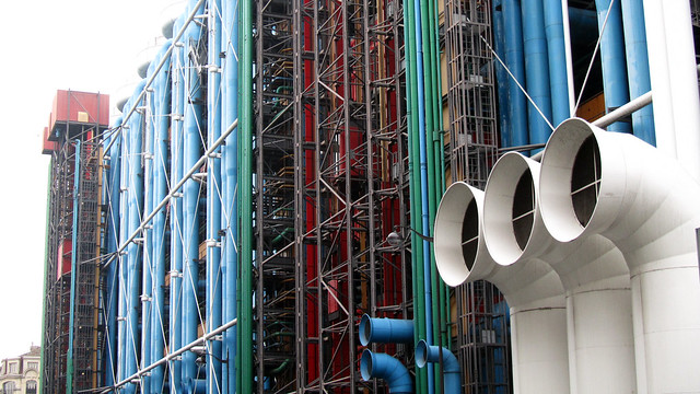 Colourful pipes of Centre Pompidou