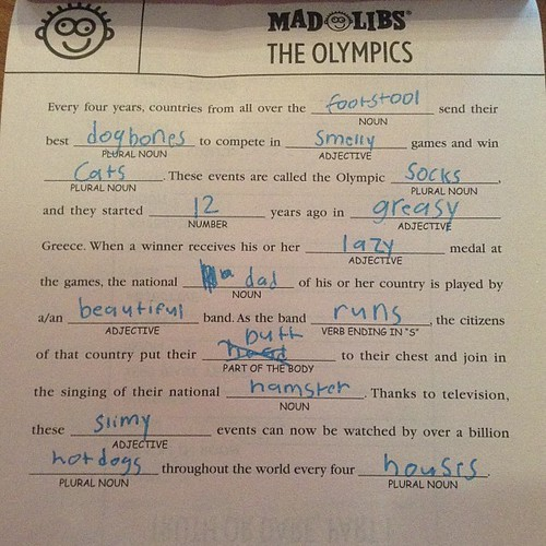 It wouldn't be Mad Libs without a butt in it.