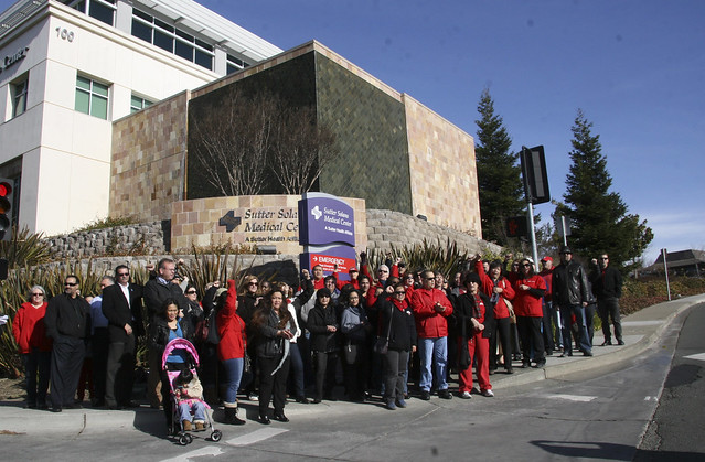 CNA RNs, Labor Supporters Join Sutter Solano RNs to Condemn  Illegal Attacks on Nurses' Rights