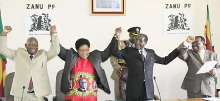 Leadership of the Zimbabwe African National Union Patriot Front (ZANU-PF). The country is anticipating a national election later in 2013. by Pan-African News Wire File Photos