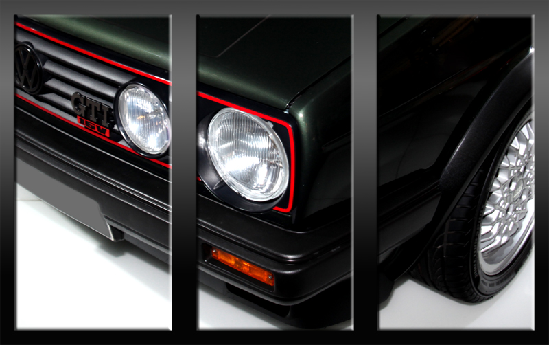vw golf ii gti 16v 16 v leinwand auf 3 keilrahmen bild. Black Bedroom Furniture Sets. Home Design Ideas