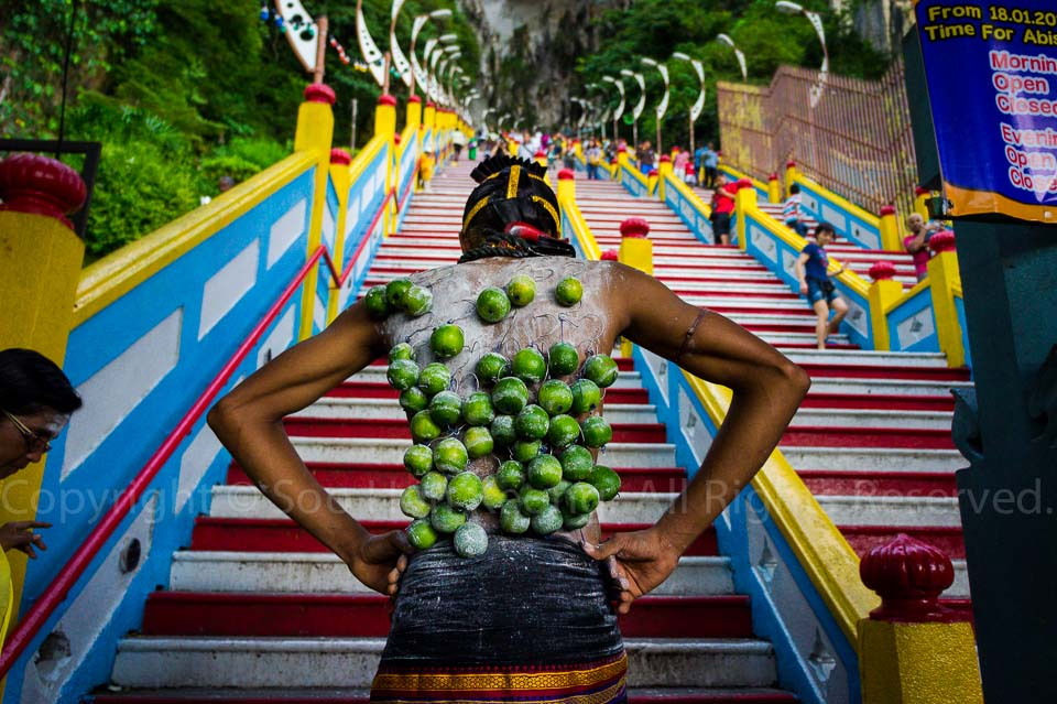 Ready to go Up @ Pre Thaipusam, Batu Caves, Malaysia