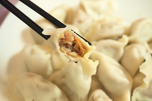 Handmade Dumplings with Pork, Cabbage & Carrot (???????????) @ H & J Bistro (???)