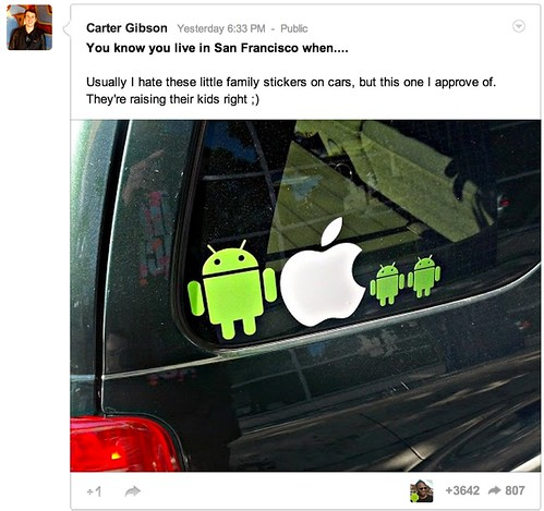 (1) Carter Gibson - Google+ - You know you live in San Francisco when.... Usually I hate…