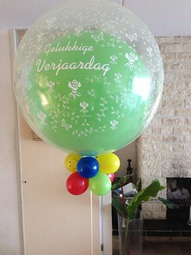 Cloudbuster Rond Gelukkige Verjaardag Limegroen