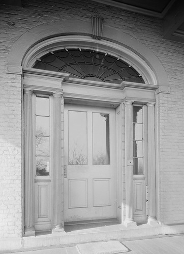 Detail, South Doorway. - Marine Hospital, Third & Kilgour Streets, Cincinnati, Hamilton County, OH