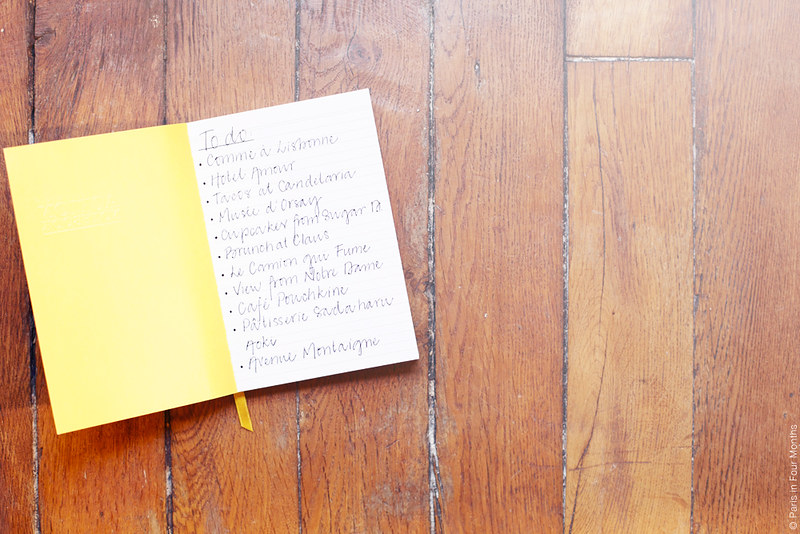 To-Do List by Carin Olsson (Paris in Four Months)