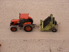 vehicle, agricultural machinery, miniature, scale model, tractor, toy,