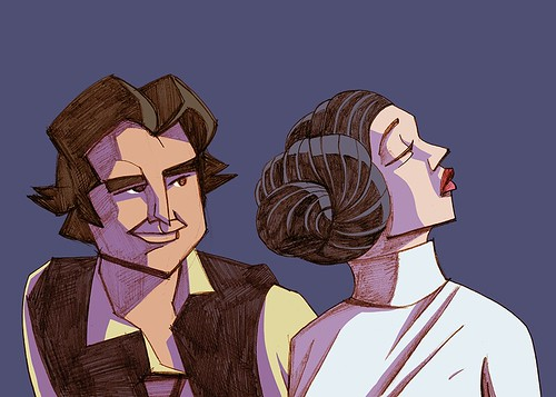 Star Wars - Han and Leia by JAM-WAH