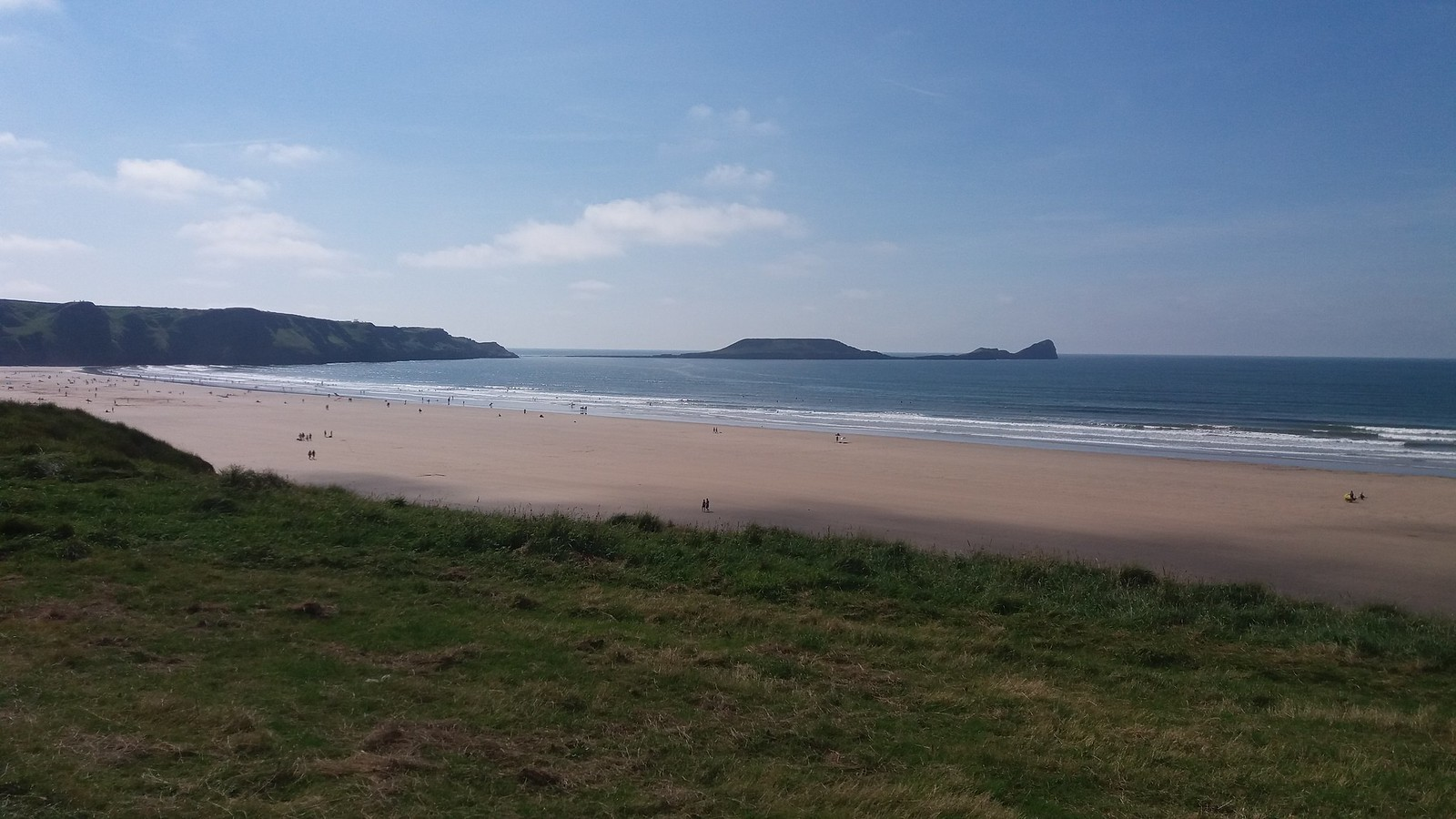 20160829_135731 Worms Head from the bottom of cliff path