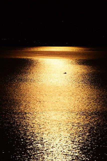 Full Moon Light Reflection On The Sea