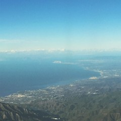 Brilliantly clear view of the rock on the approach into Malaga today #gibraltar