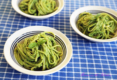 Psst, Pass the Pignoli-Free Vegan Pesto Pasta Please!