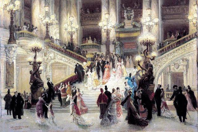 Detail of Louis Béroud's L'escalier de l'opéra Garnier (1877)