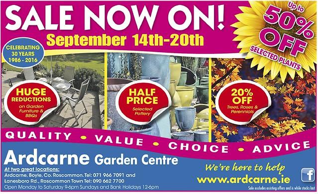 Ardcarne Garden Centre, September Sale