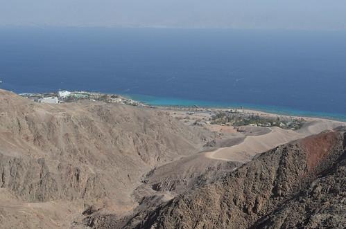 從Mt.Zefahot眺望紅海。