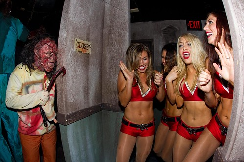 Buccaneers Cheerleaders at Howl-O-Scream 2012