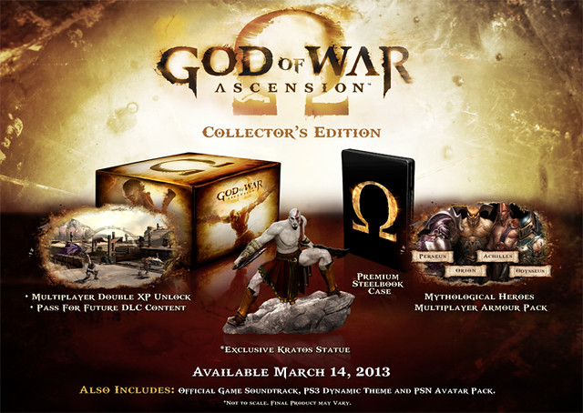 God of War: Ascension Collector's and Special Edition Detailed for Australia