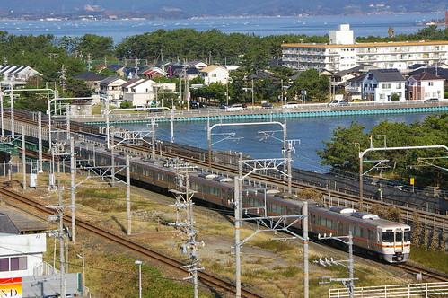 JR Central 313 series in Bentenjima, Hamamatsu, Shizuoka, Japan /Oct 8, 2012