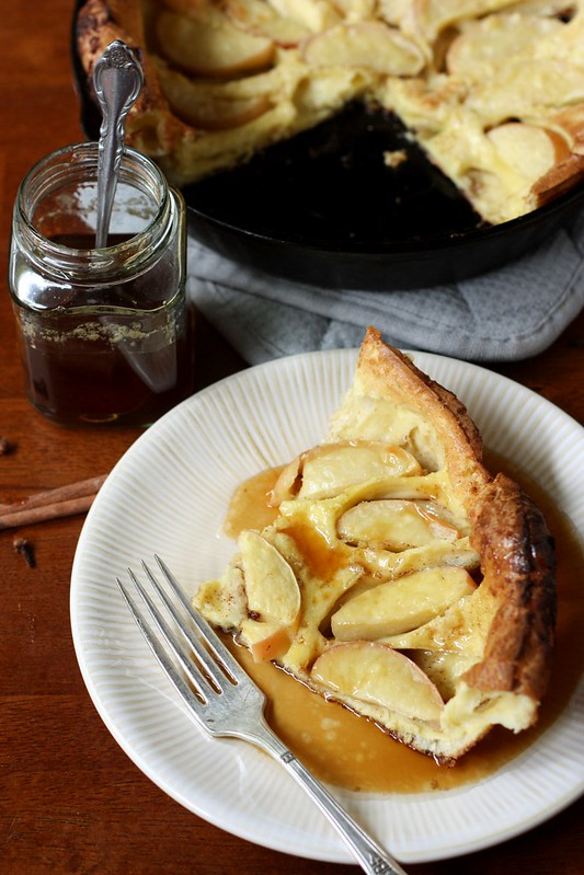 Apple Oven Pancake with Apple Cider Syrup
