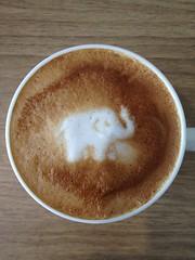 Today's latte, Ceylon.