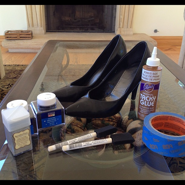 Sneak peek of Tuesday' DIY post!!! #DIY #glittershoes